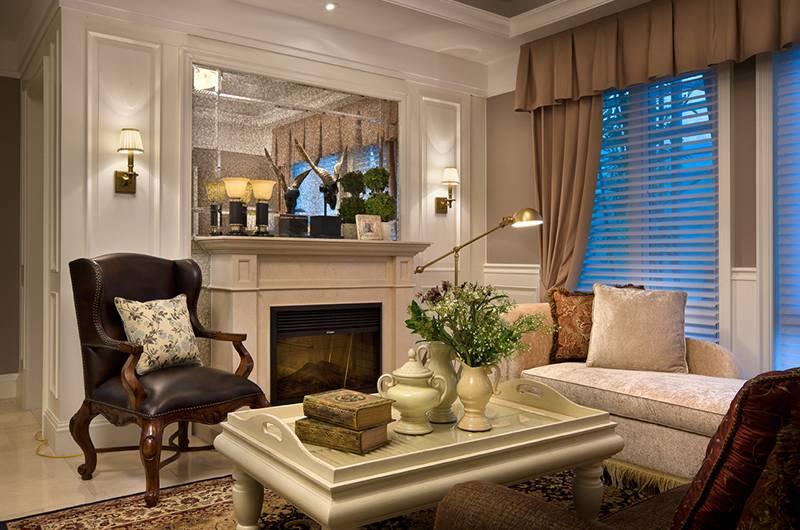 美式风格样板房客厅装修效果图