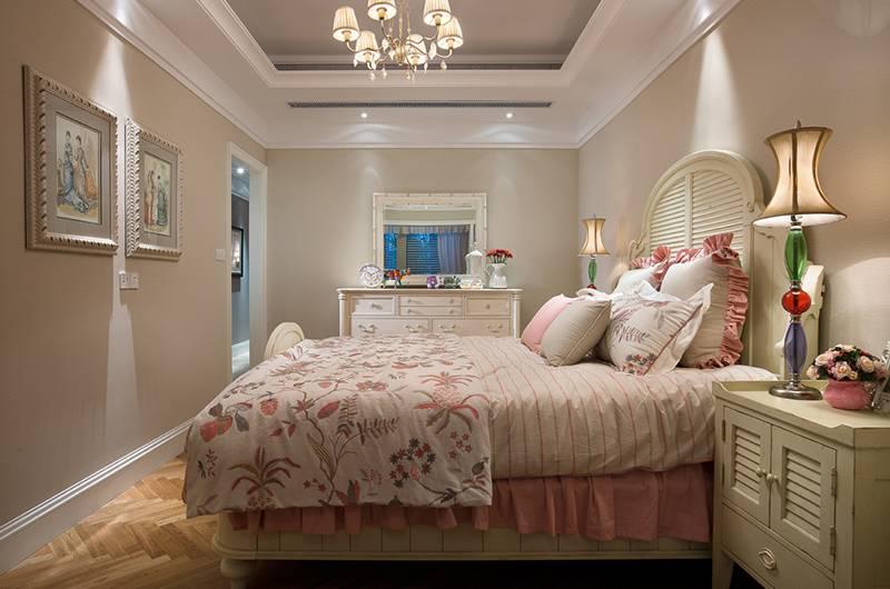 美式风格样板房主卧装修效果图