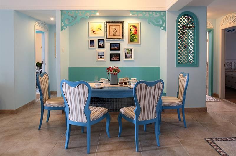 地中海风格样板房餐厅装修效果图