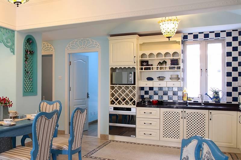 地中海风格样板房厨房装修效果图